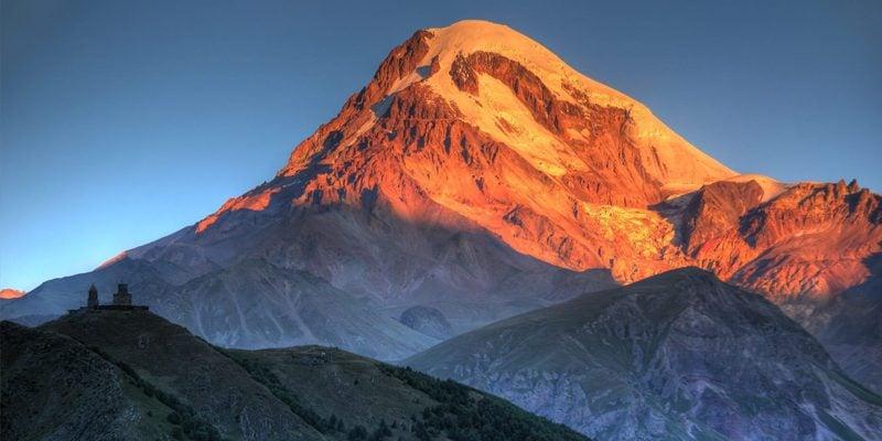Kazbegi Mountain and Gergeti in Summer