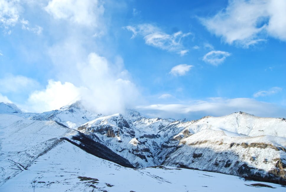 Kazbegi in Winter