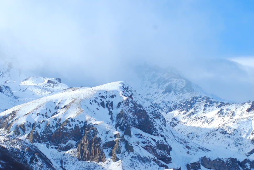 Winds at the mount Kazbegi
