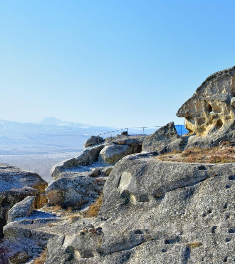 Cave city of Uplistsikhe face formation