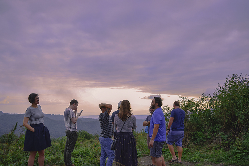 Tour on Gombori Mountains sunset