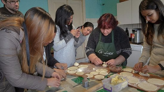 Khinkali Making Masterclass during the Kazbegi Adventure tour
