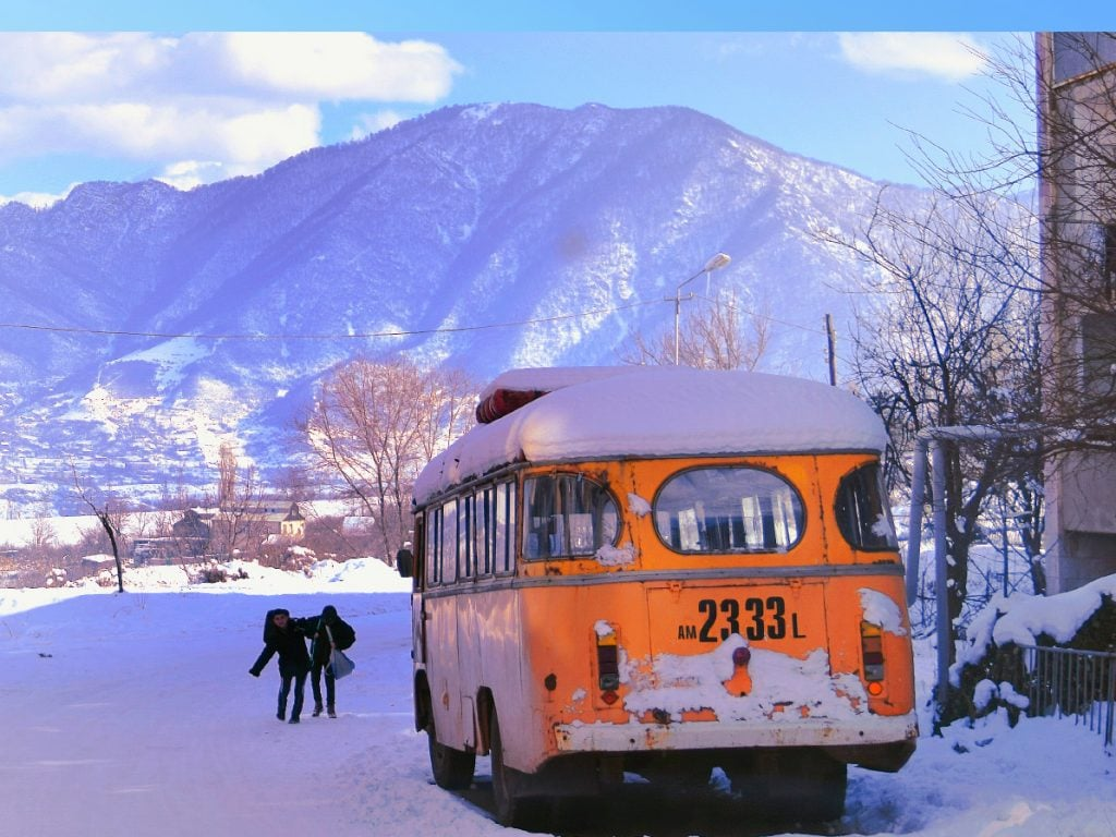 Tour To Armenia Sanahin Village Old Soviet Bus