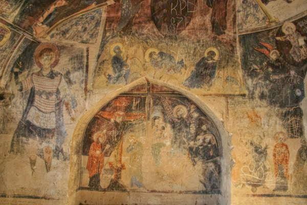 Frescoes in Davit Gareja Monastery