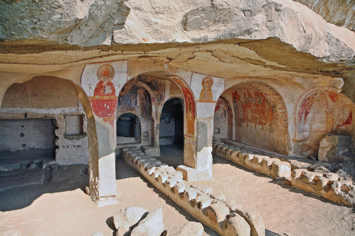 Bertubani Dining Hall in Davit Gareja Monastery Complex