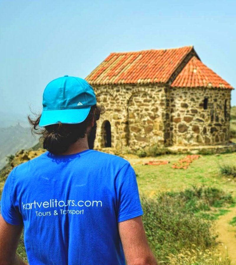 Davit Gareji Tour Gareja Trip Bertubani Guide with kartvelitours t-shirt