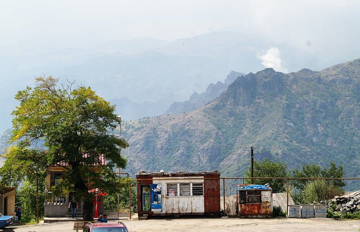 Village of Haghpat, view of Alaverdi Smelter in Armenia