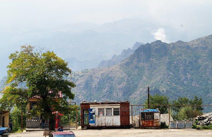 Village of Haghpat, view of Alaverdi Smelter in Armenia