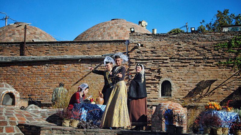 Dressed up women in Tbilisi Old Town