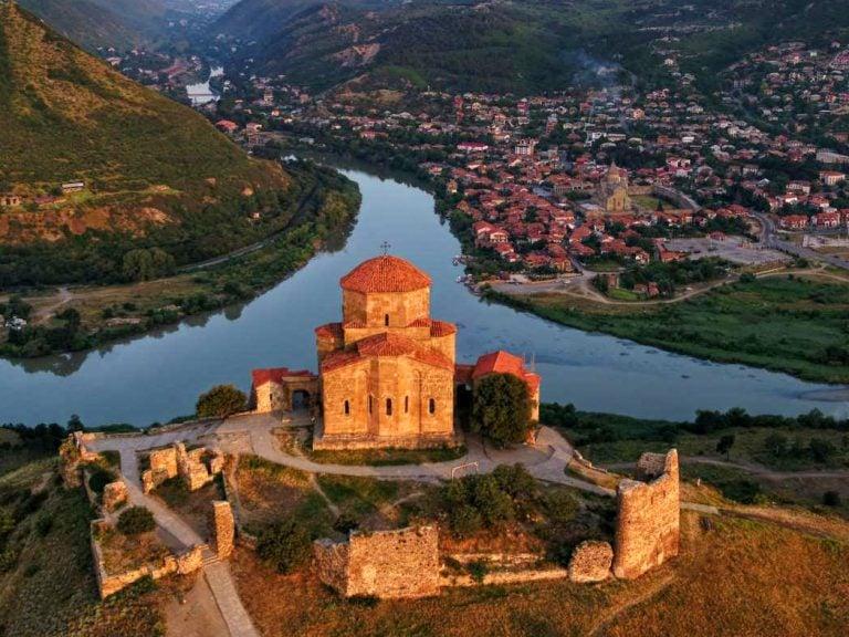 tbilisi mtskheta tour Jvari Monastery Aerial View