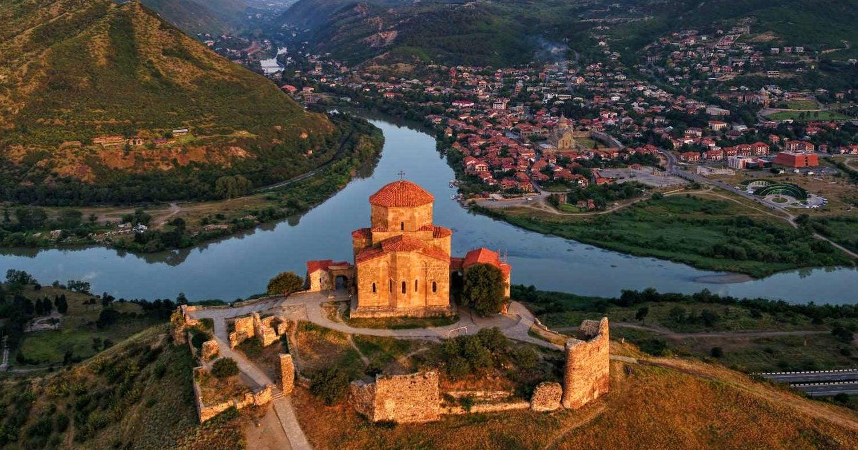 Jvari Monastery Aerial View Tbilisi Mtskheta Tour