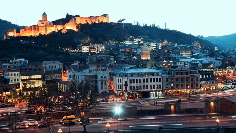 Evening in Tbilisi Old Town