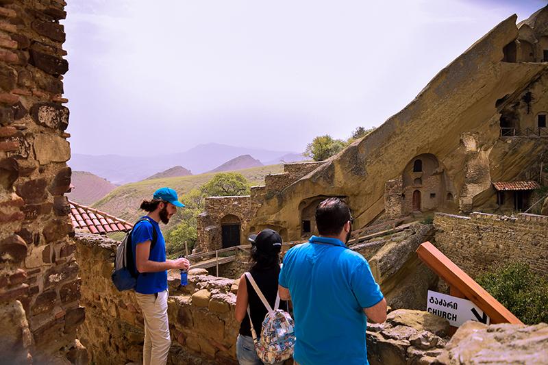 Guide telling stories of Gareji