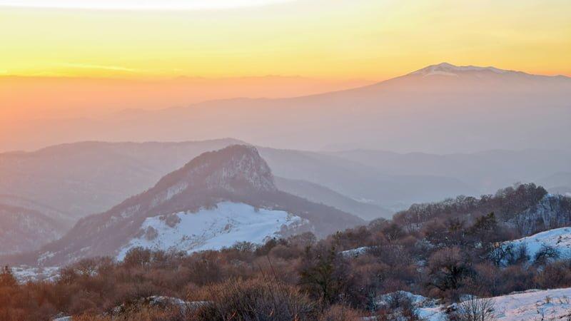 Evening at the top of Gombori Ridge during the Kakheti Wine Tour