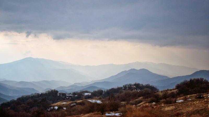 Beautiful Gombori Mountains during the Kakheti Wine Tour