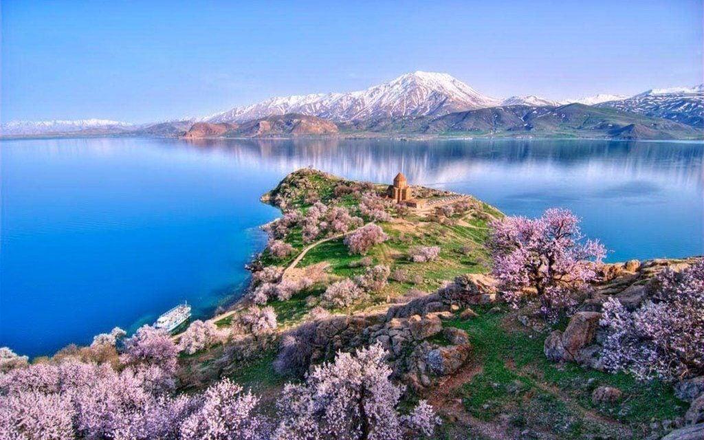 Lake Sevan and Sevanavank Aerial View