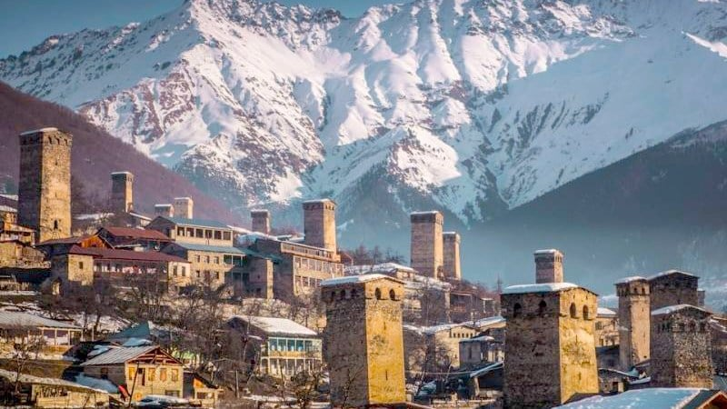 Mestia, Svan Towers in Svaneti
