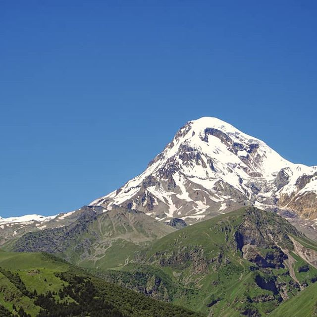 Mount Kazbegi in summer