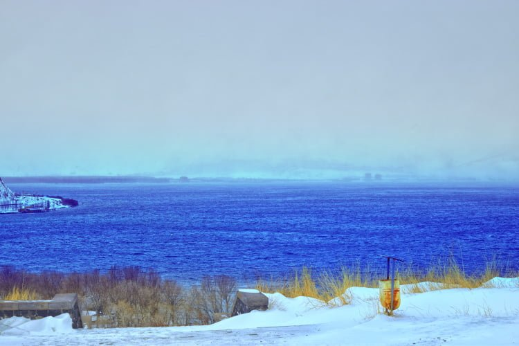 Lake Sevan in winter