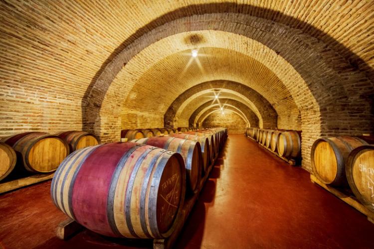Chateau Mukhrani wine Casks storage underground