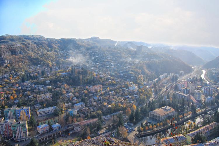 Chiatura Aerial View Mining Town Georgia