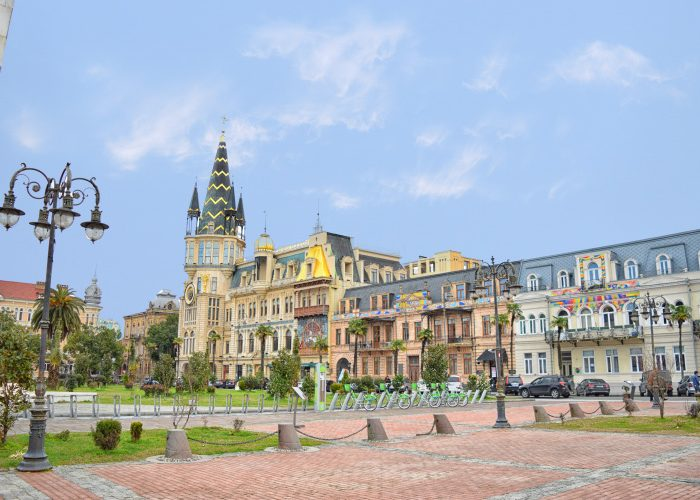 Discover Georgia 6 Day Tour Batumi Europe Square City Clock