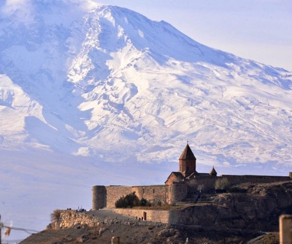 Khor Virap Monastery With Ararat Mountain in the background